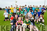 Austin Stacks defending Champions of Feile na nOg training at their ground ay Connolly Park, Tralee in foreground are Tom Foley, Mentor, Laura Sommers, Luke Chester, boys Captain and Sean Purcell,Manager.