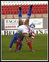 5/10/02       Copyright Pic : James Stewart                     .File Name : stewart-hamilton v stranraer 01.HAMILTON'S BRIAN MCPHEE AND STRANRAER'S JOHN FALLON GET TANGLED UP....James Stewart Photo Agency, 19 Carronlea Drive, Falkirk. FK2 8DN      Vat Reg No. 607 6932 25.Office : +44 (0)1324 570906     .Mobile : + 44 (0)7721 416997.Fax     :  +44 (0)1324 570906.E-mail : jim@jspa.co.uk.If you require further information then contact Jim Stewart on any of the numbers above.........