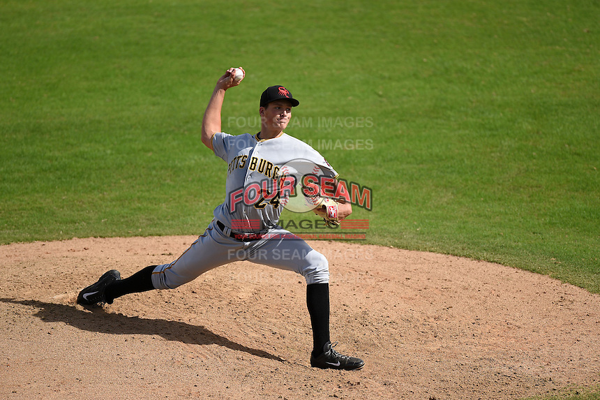 Scottsdale Scorpions pitcher Tyler Glasnow (24) during an Arizona Fall League game against the Peoria Javelinas on October 18, 2014 at Surprise Stadium in Surprise, Arizona.  Peoria defeated Scottsdale 4-3.  (Mike Janes/Four Seam Images)