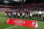24th March 2018, Anfield, Liverpool, England; LFC Foundation Legends Charity Match 2018, Liverpool Legends versus FC Bayern Legends; FC Bayern Legends line up before the game