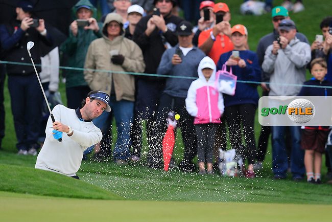 Bubba Watson (USA) on the 2nd green during the final round of the Waste Management Phoenix Open, TPC Scottsdale, Scottsdale, Arisona, USA. 03/02/2019.<br /> Picture Fran Caffrey / Golffile.ie<br /> <br /> All photo usage must carry mandatory copyright credit (© Golffile | Fran Caffrey)