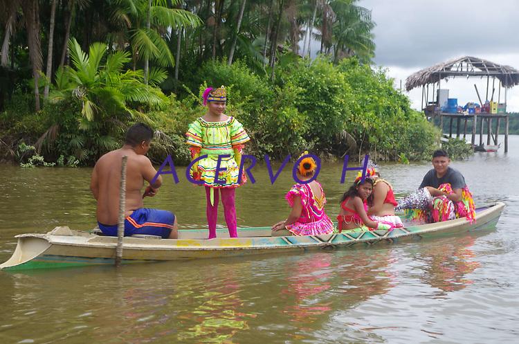 Município de Cametá e população ribeirinha no rio Tocantins.