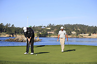 Shane Lowry (IRL) putts on 7th green during Sunday's Final Round of the 2018 AT&amp;T Pebble Beach Pro-Am, held on Pebble Beach Golf Course, Monterey,  California, USA. 11th February 2018.<br /> Picture: Eoin Clarke | Golffile<br /> <br /> <br /> All photos usage must carry mandatory copyright credit (&copy; Golffile | Eoin Clarke)