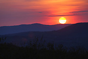 Franconia Notch State Park - Sunset from along the Franconia Notch Bike Path near the old U.S. Route 3 bridge, which crosses over Lafayette Brook in the White Mountains, New Hampshire USA.