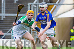 Kerry's Jack Goulding uses brilliant skill to control the ball with Limerick's Richie English in pursuit during their NHL Div 1B clash in Fitzgerald Stadium on Sunday