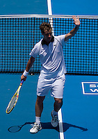 Richard Gasquet (FRA) against Benjamin Becker (GER) in the Second Round of the Mens Singles. Gasquet beat Becker 6-2 7-6..International Tennis - Medibank International Sydney - Wed 13 Jan 2010 - Sydney Olympic Park  Tennis Centre- Sydney - Australia ..© Frey - AMN Images, 1st Floor, Barry House, 20-22 Worple Road, London, SW19 4DH.Tel - +44 20 8947 0100.mfrey@advantagemedianet.com