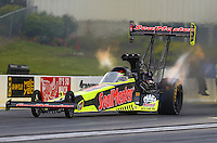 May 20, 2016; Topeka, KS, USA; NHRA top fuel driver J.R. Todd during qualifying for the Kansas Nationals at Heartland Park Topeka. Mandatory Credit: Mark J. Rebilas-USA TODAY Sports