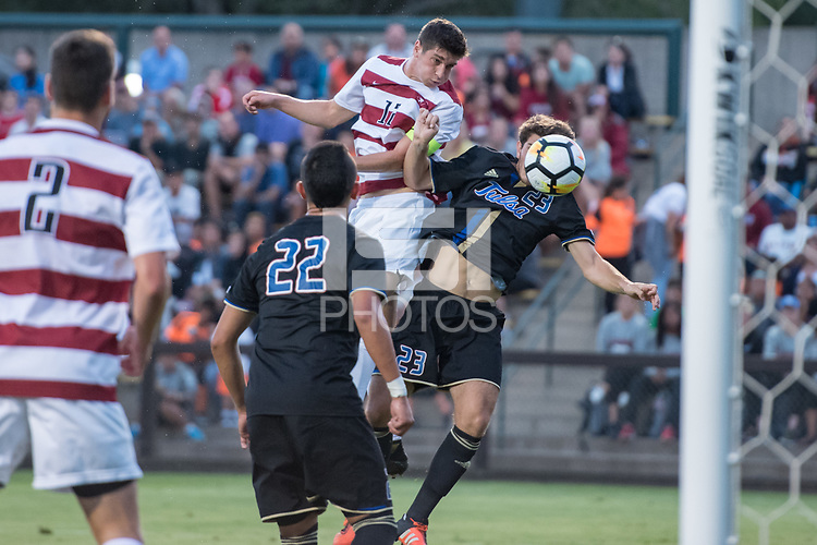 Stanford, CA - September 9th, 2017: Stanford falls 0-2 vs. Tulsa at Cagan Stadium