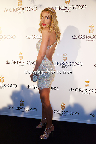 Valeria Marini attending the Grisogono party, at the hotel Eden Roc, in Antibes, during the 66th annual International Cannes Film Festival in Cannes, France, 21th May 2013. - Credit: Timm/face to face