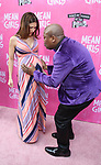 "Hilaria Baldwin and Tituss Burgess attending the Broadway Opening Night Performance of  ""Mean Girls"" at the August Wilson Theatre Theatre on April 8, 2018 in New York City."