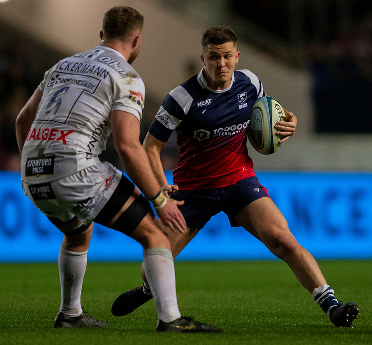 Bristol Bears' Callum Sheedy in action during todays match<br /> <br /> Photographer Bob Bradford/CameraSport<br /> <br /> Gallagher Premiership - Bristol Bears v Gloucester Rugby - Friday 1st March 2019 - Ashton Gate - Bristol<br /> <br /> World Copyright © 2019 CameraSport. All rights reserved. 43 Linden Ave. Countesthorpe. Leicester. England. LE8 5PG - Tel: +44 (0) 116 277 4147 - admin@camerasport.com - www.camerasport.com