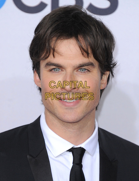Ian Somerhalder.The 2013 People's Choice Awards held at Nokia Live in Los Angeles, California 9th January 2013                                                                   .headshot portrait black white tie shirt.CAP/DVS.©DVS/Capital Pictures.