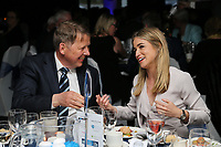 Bill Turnbull chats to Presenter Rachel Stringer during the Wycombe Wanderers end of season Awards dinner at Adams Park, High Wycombe, England on 30 April 2017. Photo by David Horn / PRiME Media Images.