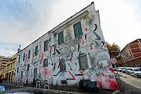 Artist Brus <br /> No Title <br /> Quartiere / District  Ostiense <br /> <br /> Roma 10-11-2015 Street Art a Roma. <br /> Street Art in Rome. <br /> Foto Andrea Staccioli / Insidefoto