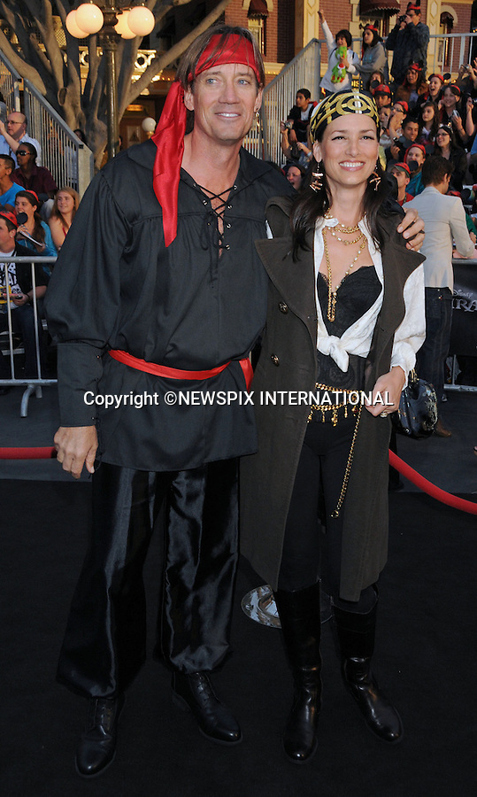"""KEVIN SORBO AND SAM JENKINS.attends World Premiere of """"Pirates of the Caribbean: On Stranger Tides"""" held at Disneyland Anaheim, California_07/05/2011. .Mandatory Photo Credit: ©Crosby/Newspix International..**ALL FEES PAYABLE TO: """"NEWSPIX INTERNATIONAL""""**..PHOTO CREDIT MANDATORY!!: NEWSPIX INTERNATIONAL(Failure to credit will incur a surcharge of 100% of reproduction fees)..IMMEDIATE CONFIRMATION OF USAGE REQUIRED:.Newspix International, 31 Chinnery Hill, Bishop's Stortford, ENGLAND CM23 3PS.Tel:+441279 324672  ; Fax: +441279656877.Mobile:  0777568 1153.e-mail: info@newspixinternational.co.uk"""
