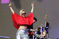 Pictured: Grace Chatto of Clean Bandit. Saturday 26 May 2018<br /> Re: BBC Radio 1 Biggest Weekend at Singleton Park in Swansea, Wales, UK.