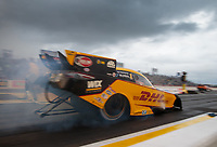 Apr 12, 2019; Baytown, TX, USA; NHRA funny car driver J.R. Todd during qualifying for the Springnationals at Houston Raceway Park. Mandatory Credit: Mark J. Rebilas-USA TODAY Sports