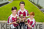 Knockaderry National School's L-r Conor Henderson, Darragh Brosnan and Dillon Callaghan took part in the Kerry Primary school's county football skills at Fitzgerald stadium last month.The boys will go on to represent Kerry in the Munster finals in Mallow in the coming weeks.This is the first time the school has represented Kerry