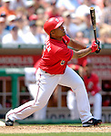 17 June 2006: Jose Guillen, right fielder for the Washington Nationals, at bat against the New York Yankees at RFK Stadium, in Washington, DC. The Nationals overcame a seven run deficit to win 11-9 in the second game of the interleague series...Mandatory Photo Credit: Ed Wolfstein Photo...