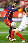 FC Barcelona's Gerard Pique (l) and Sevilla CF's Rami during Spanish Kings Cup Final match. May 22,2016. (ALTERPHOTOS/Acero)
