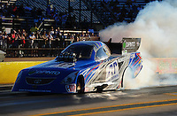 Sept. 23, 2011; Ennis, TX, USA: NHRA funny car driver Terry Haddock during qualifying for the Fall Nationals at the Texas Motorplex. Mandatory Credit: Mark J. Rebilas-