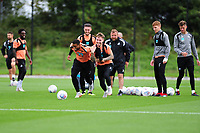 Luciano Narsingh battles with Barrie McKay of Swansea City during the Swansea City Training Session at The Fairwood Training Ground, Wales, UK. Tuesday 11th September 2018