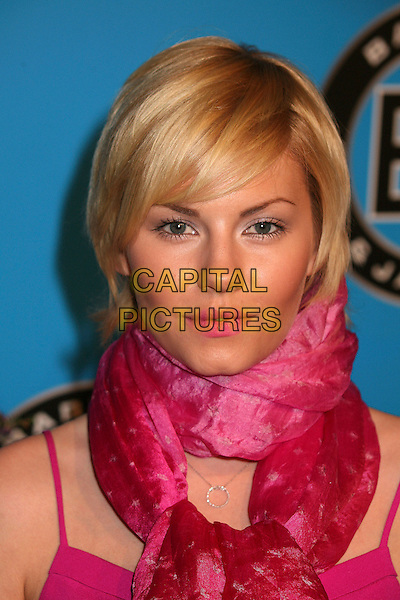 ELISHA CUTHBERT .Bartles & Jaymes Poolside BBQ at the Roosevelt Hotel, Hollywood, California, USA..May 10th, 2007.headshot portrait pink scarf lipstick  .CAP/ADM/BP.©Byron Purvis/AdMedia/Capital Pictures