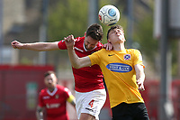 Matt Robinson of Dagenham and Redbridge and Dean Rance of Ebbsfleet during Ebbsfleet United vs Dagenham & Redbridge, Vanarama National League Football at The Kuflink Stadium on 13th April 2019