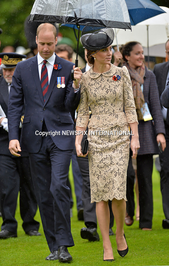 01.07.2016; Thiepval, France:  DUKE AND DUCHESS OF CAMBRIDGE<br /> attend a service to commemorate the 100th anniversary of the beginning of the Battle of the Somme at the Commonwealth War Graves Commission Memorial in Thiepval, France<br /> Mandatory Photo Credit: &copy;MoD/NEWSPIX INTERNATIONAL<br /> <br /> IMMEDIATE CONFIRMATION OF USAGE REQUIRED:<br /> Newspix International, 31 Chinnery Hill, Bishop's Stortford, ENGLAND CM23 3PS<br /> Tel:+441279 324672  ; Fax: +441279656877<br /> Mobile:  07775681153<br /> e-mail: info@newspixinternational.co.uk<br /> Please refer to usage terms. All Fees Payable To Newspix International