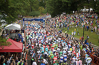 the race start at the University Richmond<br /> <br /> Elite Men Road Race<br /> UCI Road World Championships Richmond 2015 / USA