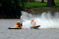 Frame 7: 300-P comes together with 911-Q, turns away and then is ejected from the boat.   (Outboard Hydroplanes)