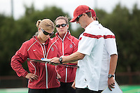 STANFORD, CA - September 19, 2010:  Coaches during the Stanford Field Hockey game against Cal in Stanford, California. Stanford lost 2-1.