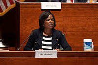 United States Representative Val Demings (Democrat of Florida) asks questions during a US House Judiciary Committee hearing to discuss police brutality and racial profiling on Wednesday, June 10, 2020.<br /> Credit: Greg Nash / Pool via CNP/AdMedia