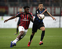 Calcio, Serie A: AC Milan - Inter Milan, Giuseppe Meazza (San Siro) stadium, Milan on 17 March 2019.  <br /> Inter's Matias Vecino (r) in action with Milan's Frank Kessie (l) during the Italian Serie A football match between Milan and Inter Milan at Giuseppe Meazza stadium, on 17 March 2019. <br /> UPDATE IMAGES PRESS/Isabella Bonotto