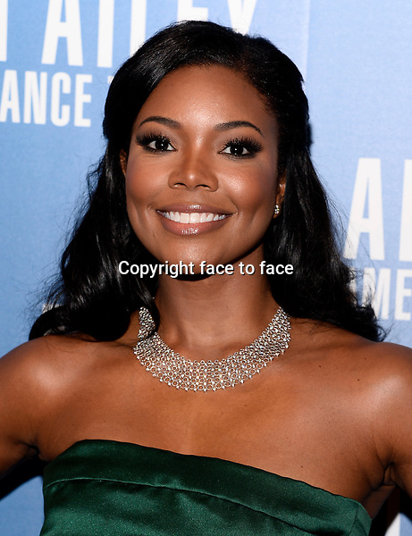 NEW YORK, NY - DECEMBER 04: Actress Gabrielle Union pictured at Alvin Ailey's Opening Night Gala at New York City Center, on December 4, 2013 in New York City. Credit: RTNPluvious/MediaPunch Inc.<br /> Credit: MediaPunch/face to face<br /> - Germany, Austria, Switzerland, Eastern Europe, Australia, UK, USA, Taiwan, Singapore, China, Malaysia, Thailand, Sweden, Estonia, Latvia and Lithuania rights only -
