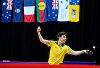 Nathan Pellissier (AUS)<br /> 2013 ITTF PTT Oceania Regional<br /> Para Table Tennis Championships<br /> AIS Arena Canberra ACT AUS<br /> Wednesday November 13th 2013<br /> © Sport the library / Jeff Crow