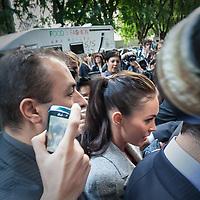 Megan Fox alla sfilata di Giorgio Armani<br /> <br /> Megan Fox at the Giorgio Armani fashion show.