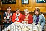 Alzheimer's Tea Day in aid of Kerry society at Christy's Bar Listowel. Pictured were l-r Ann Ing, Ann O'Mahony, Mary Sheehy and Helen Nolan