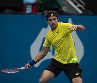 Marino Matosevic (AUS)<br /> <br /> Tennis - APIA International  - Sydney -  Olympic Park  -  Holmbush - Australia  - Tuesday 7th January 2014. <br /> <br /> &copy; AMN Images, 8 Cedar Court, Somerset Road, London, SW19 5HU<br /> Tel - +44 7843383012<br /> mfrey@advantagemedianet.com<br /> www.amnimages.photoshelter.com<br /> www.advantagemedianet.com<br /> www.tennishead.net