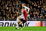 Gareth Bale of Real Madrid and Inigo Martinez of Athletic Club during La Liga match between Real Madrid and Athletic Club de Bilbao at Santiago Bernabeu Stadium in Madrid, Spain. December 22, 2019. (ALTERPHOTOS/A. Perez Meca)