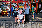 Ice Bucket Challenge: Minister for the Diaspora, Jimmy Deenihan, TD  taking the ice bucket from Albert Barrett & John Long after he took part in When Timmy Met Sam Leisure cycle on Saturday last in Listowel.