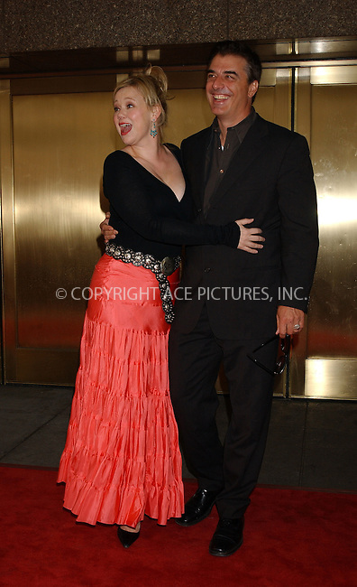 WWW.ACEPIXS.COM . . . . . ....NEW YORK, MAY 16, 2005....Caroline Rhea and Chris Noth at the NBC Primetime Preview red carpet arrivals for Upfront Week held at Radio City Music Hall.....Please byline: KRISTIN CALLAHAN - ACE PICTURES.. . . . . . ..Ace Pictures, Inc:  ..Craig Ashby (212) 243-8787..e-mail: picturedesk@acepixs.com..web: http://www.acepixs.com