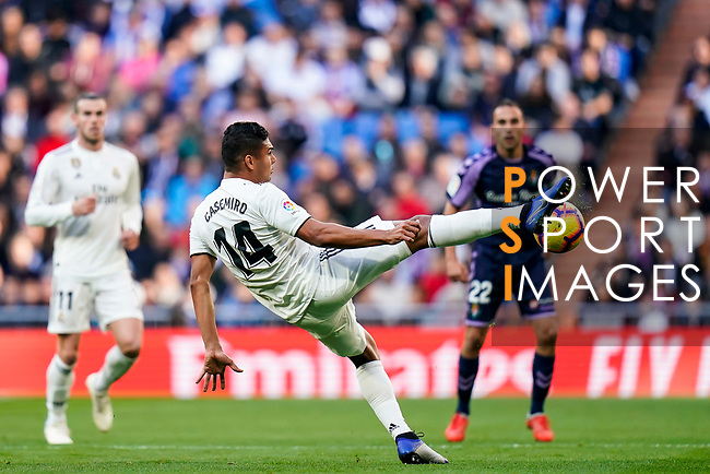 Carlos Henrique Casemiro of Real Madrid in action during the La Liga 2018-19 match between Real Madrid and Real Valladolid at Estadio Santiago Bernabeu on November 03 2018 in Madrid, Spain. Photo by Diego Souto / Power Sport Images