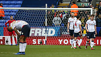 Bolton Wanderers players despair after conceding a fourth goal <br /> <br /> Photographer Andrew Kearns/CameraSport<br /> <br /> The EFL Sky Bet Championship - Bolton Wanderers v Norwich City - Saturday 16th February 2019 - University of Bolton Stadium - Bolton<br /> <br /> World Copyright © 2019 CameraSport. All rights reserved. 43 Linden Ave. Countesthorpe. Leicester. England. LE8 5PG - Tel: +44 (0) 116 277 4147 - admin@camerasport.com - www.camerasport.com