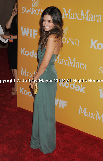 BEVERLY HILLS, CA - JUNE 12: Jenna Dewan-Tatum arrives at the 2012 Women In Film Crystal + Lucy Awards at The Beverly Hilton Hotel on June 12, 2012 in Beverly Hills, California.