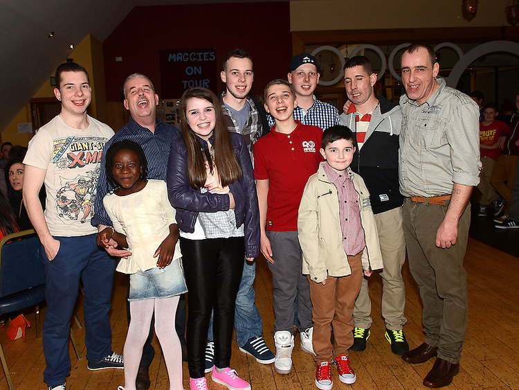 Darragh Maguire celebrating his 21st birthday in the Thatch with his family. Photo:Colin Bell/pressphotos.ie