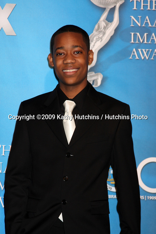 Tyler James Williams  in the Press Room  at the 40th Annual NAACP Image Awards  at the Shrine Auditorium in Los Angeles, CA on .February 12, 2009.©2009 Kathy Hutchins / Hutchins Photo..                .