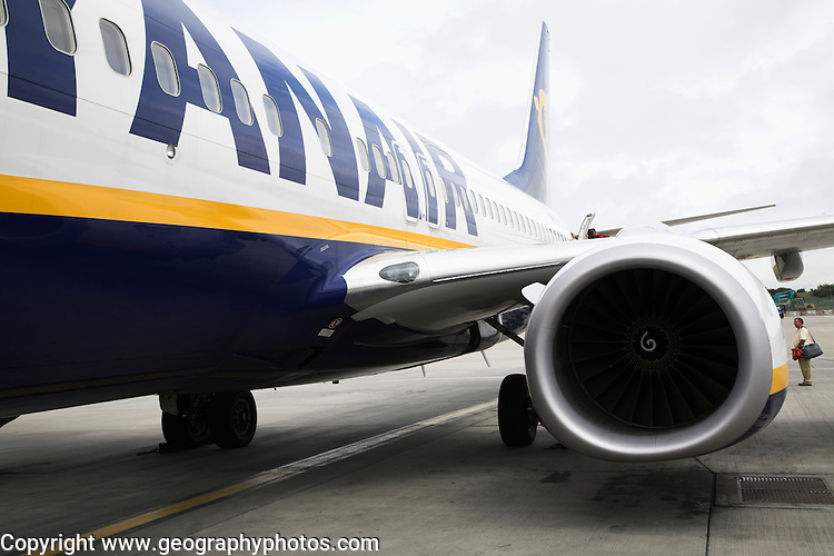 Ryanair plane, Stanstead airport, Essex, England Stanstead airport, Essex, England, UK
