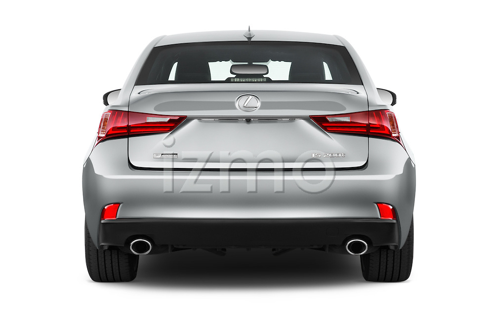 Straight rear view of 2016 Lexus IS F Sport Line 4 Door Sedan Rear View  stock images