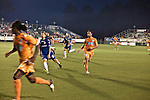 September 12, 2009. Cary, NC..The Carolina Railhawks took over the #2 spot in the league after a 2-1 victory over the Puerto Rico Islanders.. #11 Daniel Paladini, right.